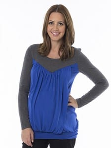 Viva-Two-Tone-Maternity-Top-front