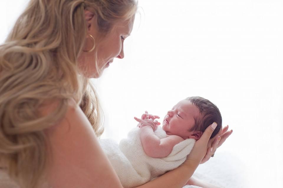 New mum with baby